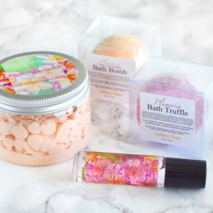 Plumeria Gift Set by Tailored Soap
