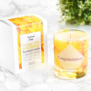 Congratulations Candle Oatmeal Milk and Honey