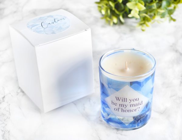 Will you be my maid of honor proposal thank you for being my maid of honour scented candle with box