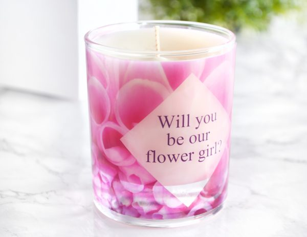 Will you be our flower girl proposal candle with box thank you for being my flower girl present