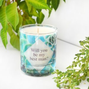 Will You Be My Best Man Thank You For Being My Groomsman Gift Proposal Candle with Box