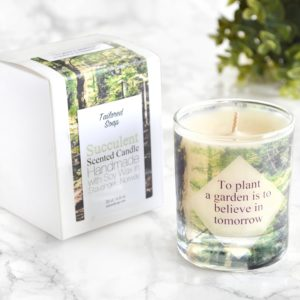 To plant a garden is to believe in tomorrow gardening gift garden lover candle with box