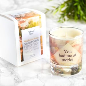 You had me at merlot quote wine lover gift candle