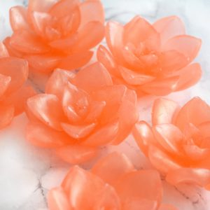 Pear scented orange Lotus Soap by Tailored Soap