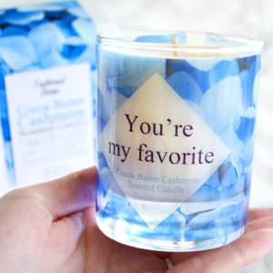 You're My Favorite Gift Cocoa Butter Cashmere Scented Candle