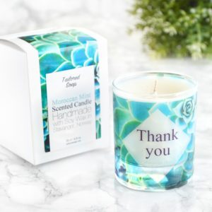 Thank You Gift For Bridal Party Parents Mint Scented Candle