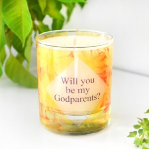 Will You Be My Thank You For Being My Godmother Godfather Godparents Personalized Custom Scented Candle