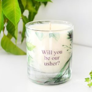Will you be our usher thank you for being our toastmaster gave bryllup personalized candle