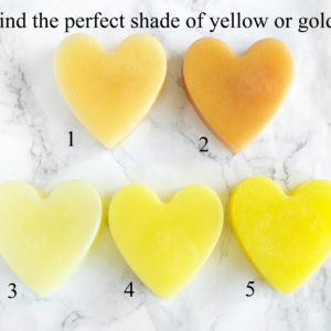 Yellow Heart Soap With Couple Initials by Tailored Soap
