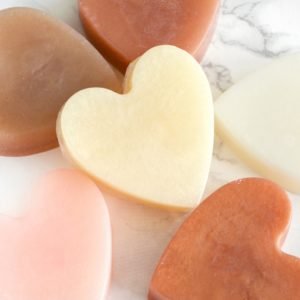 Ivory/Cream/Nude Heart Soap With Couple Initials