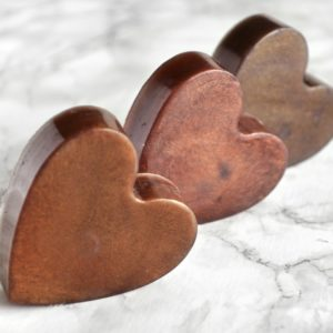 Brown Heart Soap With Couple Initials