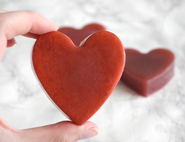 Red Heart Soap With Couple Initials