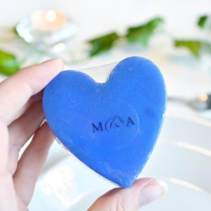 Blue Heart Soap With Couple Initials