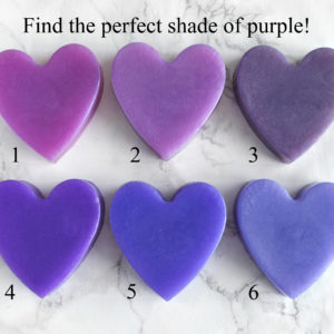 Purple Heart Soap With Couple Initials