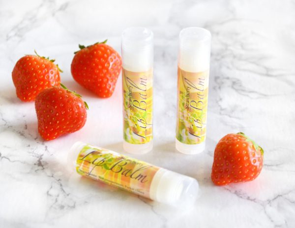 Strawberry Flavored Lip Balm by Tailored Soap