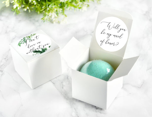 """Will You Be My Maid of Honor"" Bath Bomb Gift Box by Tailored Soap"