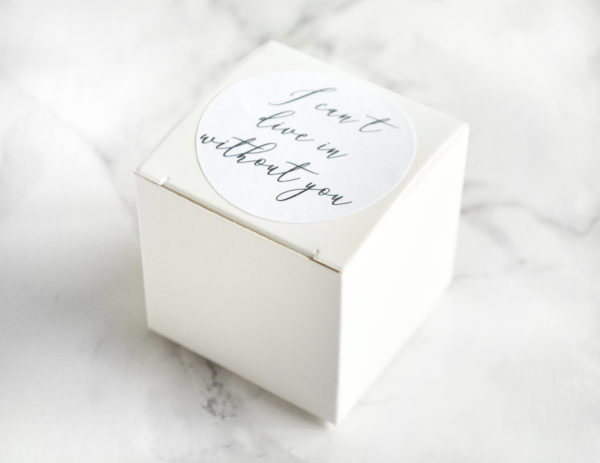 """Will You Walk Me Down The Aisle"" Proposal Bath Bomb Gift Box by Tailored Soap"