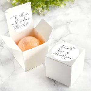 """""""Will You Walk Me Down The Aisle"""" Proposal Bath Bomb Gift Box by Tailored Soap"""