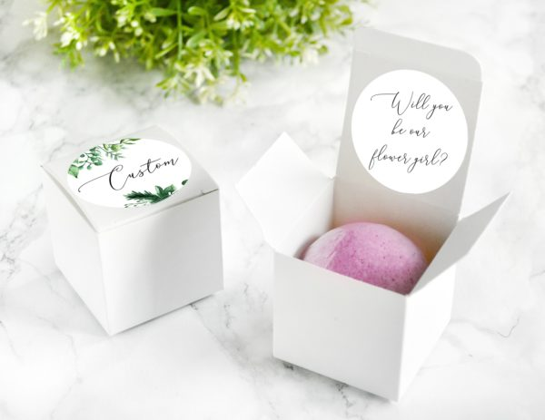"""Will You Be Our Flower Girl"" Bath Bomb Gift Box by Tailored Soap"
