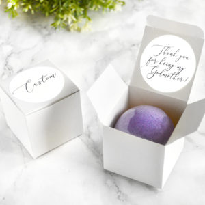 """""""Thank You For Being My Godmother"""" Bath Bomb Gift Box by Tailored Soap"""