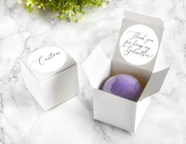 """Thank You For Being My Godmother"" Bath Bomb Gift Box by Tailored Soap"