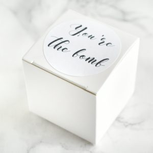 """Thank You For Being Our Ring Bearer"" Bath Bomb Gift Box by Tailored Soap"