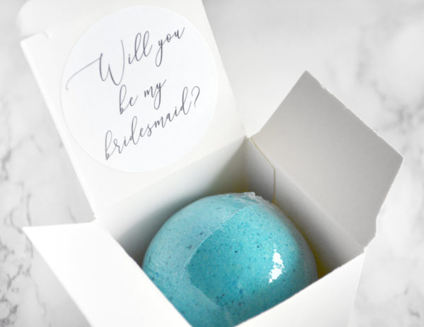 """Will You Be My Bridesmaid"" Bath Bomb Gift Box by Tailored Soap"