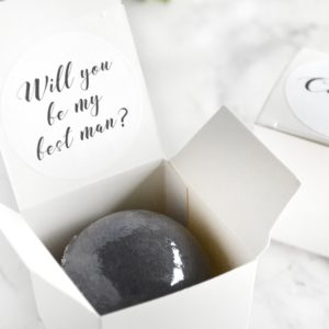 """Will You Be My Best Man"" Bath Bomb Gift Box by Tailored Soap"