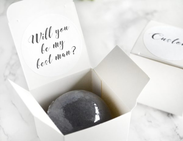 """""""Will You Be My Best Man"""" Bath Bomb Gift Box by Tailored Soap"""