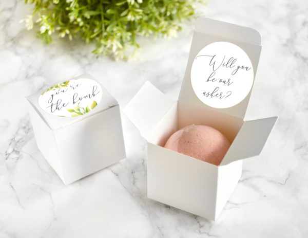 """Will You Be Our Usher"" Bath Bomb Gift Box by Tailored Soap"