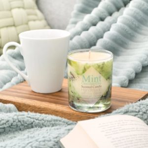 Mint Chocolate Chip Scented Soy Candle with Gift Box by Tailored Soap