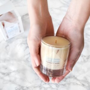 Cocoa Butter Cashmere Candle by Tailored Soap. Glass Candle With Gift Box