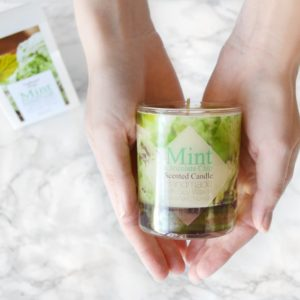 Mint Chocolate Chip Scented Soy Candle with Box by Tailored Soap