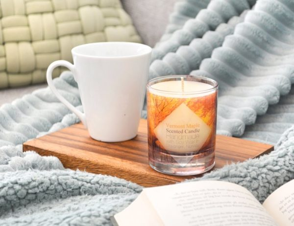 Vermont Maple Scented Soy Candle with Box by Tailored Soap