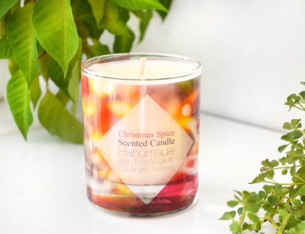 Christmas Scented Soy Candle with Gift Box by Tailored Soap