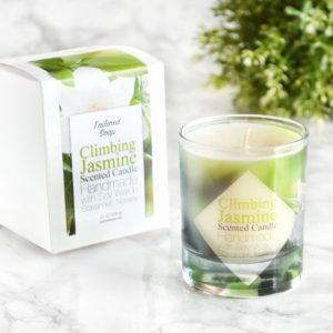 Jasmine Scented Soy Candle with Gift Box by Tailored Soap