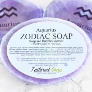 Purple Aquarius Zodiac Soap by Tailored Soap