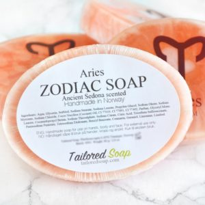 Orange Aries Zodiac Soap by Tailored Soap