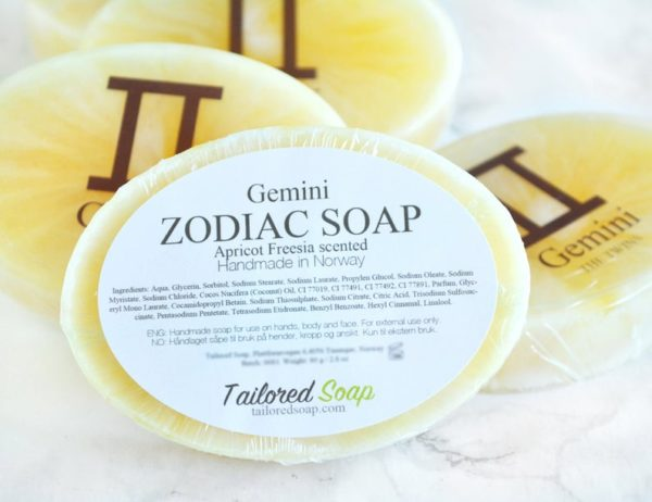 Yellow Gemini Zodiac Soap by Tailored Soap