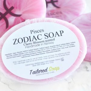 Pink Pisces Zodiac Soap by Tailored Soap