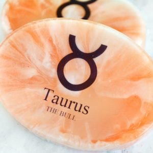 Orange Taurus Zodiac Soap by Tailored Soap