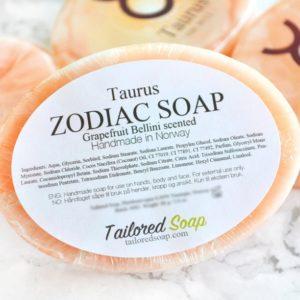 Orange Taurus Zodiac Soap by Tailored Soap