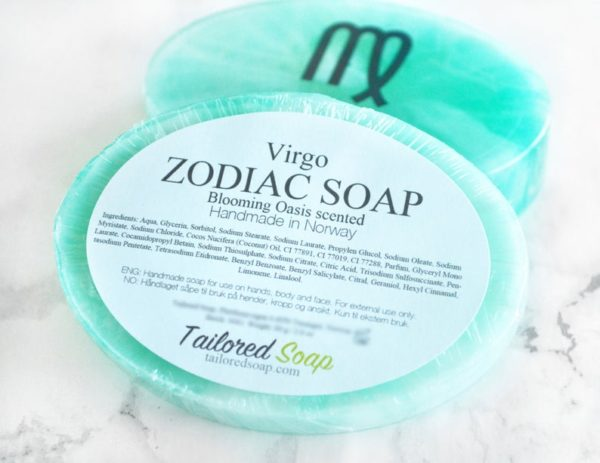 Turquoise Virgo Zodiac Soap by Tailored Soap