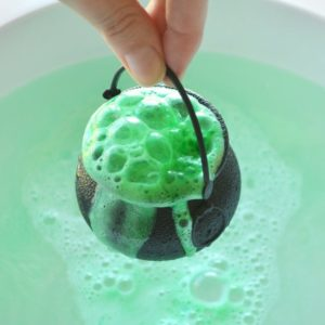 Green Witches' Brew Bath Bomb by Tailored Soap