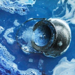 Blue Witches' Brew Cauldron Bath Bomb by Tailored Soap