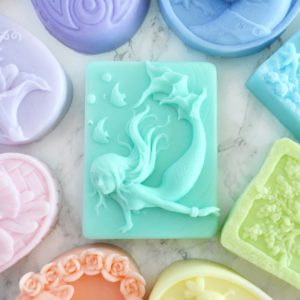 Handmade Mermaid soap in color and scent of your choice by Tailored Soap
