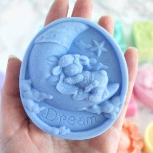 Custom celestial moon soap by Tailored Soap