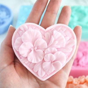 Beuatiful handmade orchid soap in custom color and scent